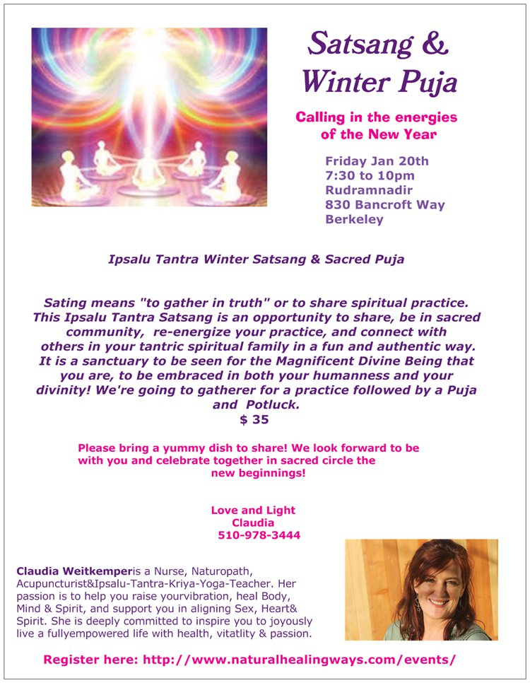 Winter Satsang &  Puja of Light @ Rudramandir Sacred Space | Berkeley | California | United States