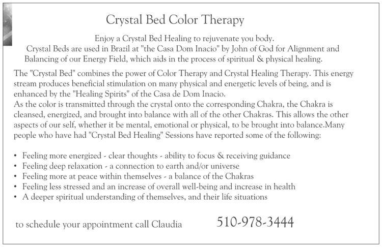 Crystal Bed Postcard back